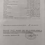 Протокол 4 хімічний аналіз. 2 сторінка