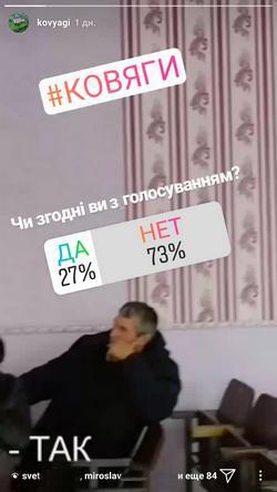 Голосування в Инстаграмм