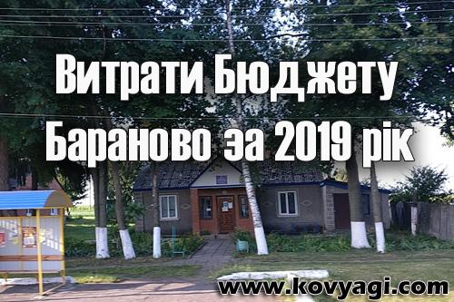 Витрати бюджету Бараново за 2019 рік