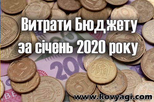 Витрати бюджету Ковяг за січень 2020 року
