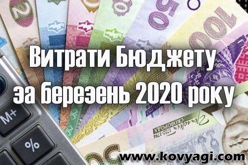 Витрати бюджету Ковяг за березень 2020 року