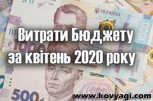 Витрати бюджету Ковяг за квітень 2020 року
