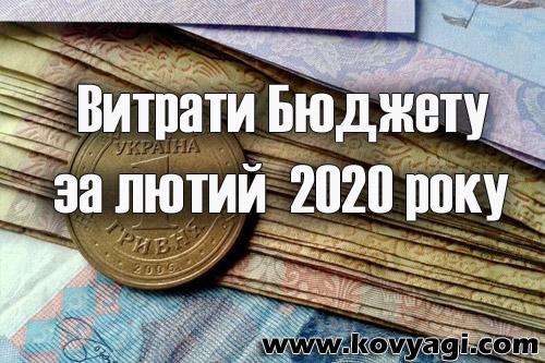 Витрати бюджету Ковяг за лютий 2020 року