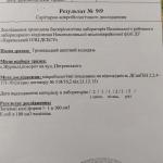 Результат Протокол 9 бактерологічний аналіз